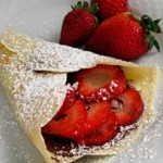 Crepes con Fresas y Chocolate
